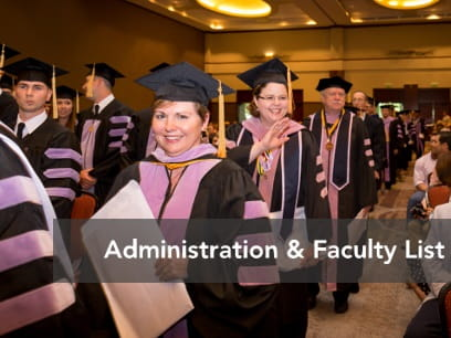 Administration and Faculty List